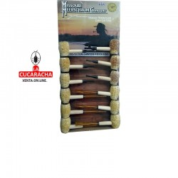 Display 12 pipas Missouri, hecha con mazorca de maíz, surtidos modelos Tow Sawyer y Huck Finn, rectas, sin filtro