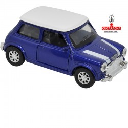 Mini Cooper, Color marino con el techo blanco , Escala 1:32