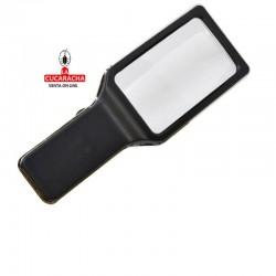 Lupa de mano con luz, forma rectangular, con 10 luces LED, aumento 3x (anti-deslumbrante),