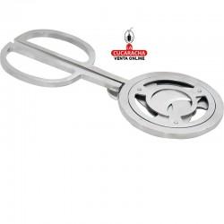 Pack 2 Cortapuros tijera metálico, con 3 cuchillas de corte, hecho en acero inoxidable, color cromado