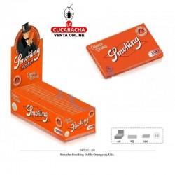 Estuche Smoking Doble Orange 25 UDS