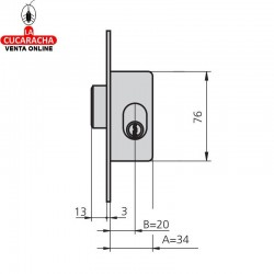 Cerradura de solo palanca CVL 1964-A-0 C-N