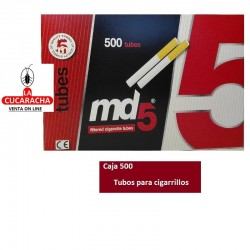 Tubos Cigarrillo MD5 Caja 500.- Unidadx10