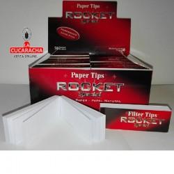 FILTROS CIGARRILLO Paper Tips carton 50 hojas ROCKET