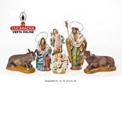 Nacimiento Estilo Samaritano con tela 2-NACIMIENTO-12-16-18-21cm