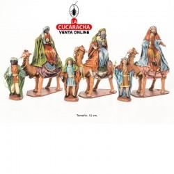 Reyes en Camello Estilo Samaritano con tela-12cm