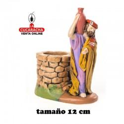 Pastor en Pozo Estilo Samaritano con tela-12cm. Conjunto