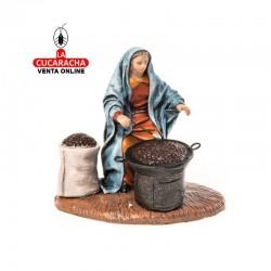 Castañera Estilo Samaritano con tela-12cm. Conjunto