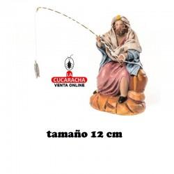 Pescador Estilo Samaritano con tela-12cm. Conjunto