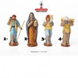 Pastores Surtidos 2 Estilo Hebreo economico 7-9-12cm. Unidad