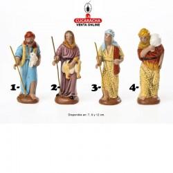 Pastores Surtidos 3 Estilo Hebreo economico 7-9-12cm. Unidad