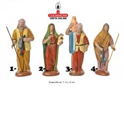 Pastores Surtidos 6 Estilo Hebreo economico 7-9-12cm. Unidad