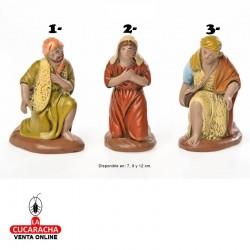 Pastores Adorando Surtidos Estilo Hebreo economico 7-9-12cm. Unidad