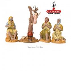 Anunciacion a los Pastores Estilo Hebreo economico 7-9-12 cm. Grupo