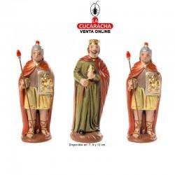 Herodes y Soldados Estilo Hebreo economico 7-9-12 cm. Grupo