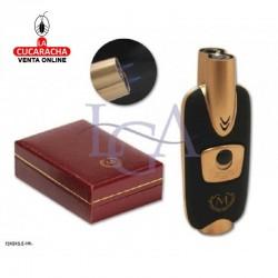 Encendedor Myon Monarch Metal Laser Doble Negro-Cobre. 1 Unidad
