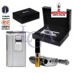 Encendedor Cozy Niki Cromado Laser Con Boquilla. 1 Unidad