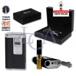 Encendedor Cozy Niki Negro Laser Con Boquilla. 1 Unidad