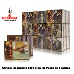 Cerillas Madera Pipa 3 Estrellas 10 Pack de 5 Unidades