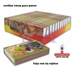 Cerillas Puros 10cm Pack de 24 Unidades