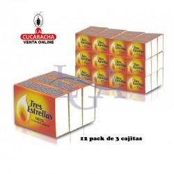 Cerillas Madera Cocina 3 Estrellas 12 Pack de 3 Unidades