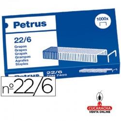 Grapas Petrus Nº- 22-6 - 25 Cajas de 1000 grapas