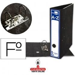 Caja de 20 Archivador de Palanca Folio Carton Entrecolado Sin Rado Lomo 80mm