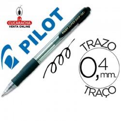 Boligrafo Pilot Supergrip Negro.- Unidadx12