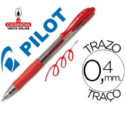 Boligrafo Pilot G-2 Rojo Tinta Gel-Retractil.- Unidadx12