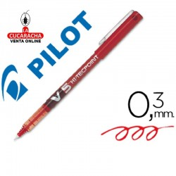 Rotulador Pilot Punta Aguja V-5 Rojo 0.5 mm.- Unidadx12