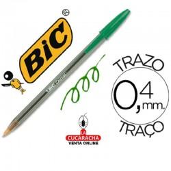 500 Boligrafos Bic Cristal Verde.-