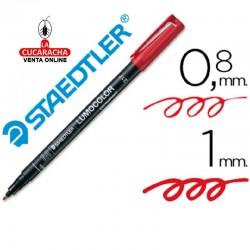 Rotulador Lumocolor 317-2 Rojo Punta Media Redonda 0.8-1 mm. Caja de 10
