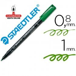 Rotulador Lumocolor 317-5 Verde Punta Media Redonda 0.8-1 mm. Caja de 10