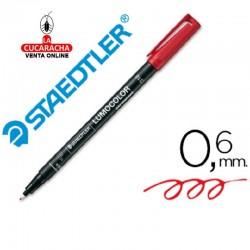 Rotulador Lumocolor 318-2 Rojo Punta Fina Redonda 0.6 mm.- Unidadx10