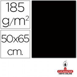 Cartulina Guarro Negra 50x65 cm 185g/m2. Pack de 25