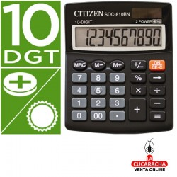Calculadora Citizen Sobremesa SDC-810 BN. 10 Digitos