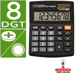Calculadora Citizen Sobremesa SDC-805 BN. 8 Digitos