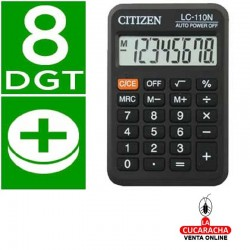 Calculadora Citizen Bolsillo LC-110. 8 Digitos Negra