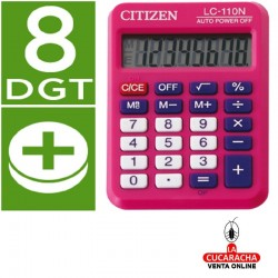 Calculadora Citizen Bolsillo LC-110. 8 Digitos Color Rosa