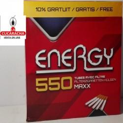 20 Cajas de 550 Tubos ENERGY Filtro 8mm.
