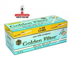 Caja de 275 Tubos Golden Filter Filtro Extra Largo..