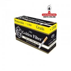 Cajon 16. Tubos Golden Filter 100S- 550 Unidades