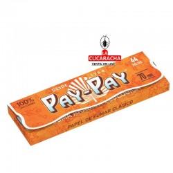 Libro de 64 Hojas Papel Liar 70mm. naranja clasico PAY PAY.
