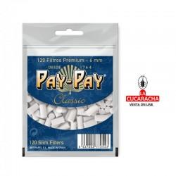 PAY PAY-Pack 40-Bolsa de 120 Filtros 6mm.
