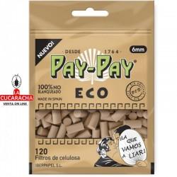 PAY PAY-Pack 40-Bolsa de 120 Filtros 6mm. Ecologico.