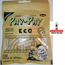 FILTROS CIGARRILLO PAY PAY 6MM Ecologico B120