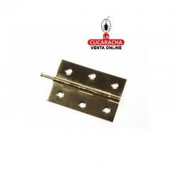 """Bisagra Cincada Modelo 840 75x49mm 3"""". Caja de 24 Unidades"""