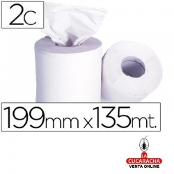 Papel Secamanos 2 Capas 199 Mm X 135 MT -Mandril 76 Mm Diametro 197 Mm