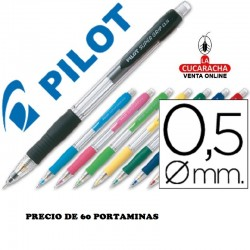 Portaminas PILOT SUPER GRIP 0,5 MM - 60 Unidades