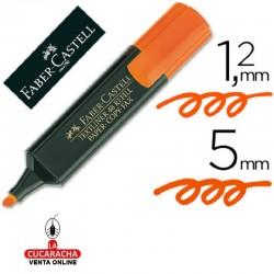 Rotulador FABER Fluorescente 48-15 Naranja. Caja de 10